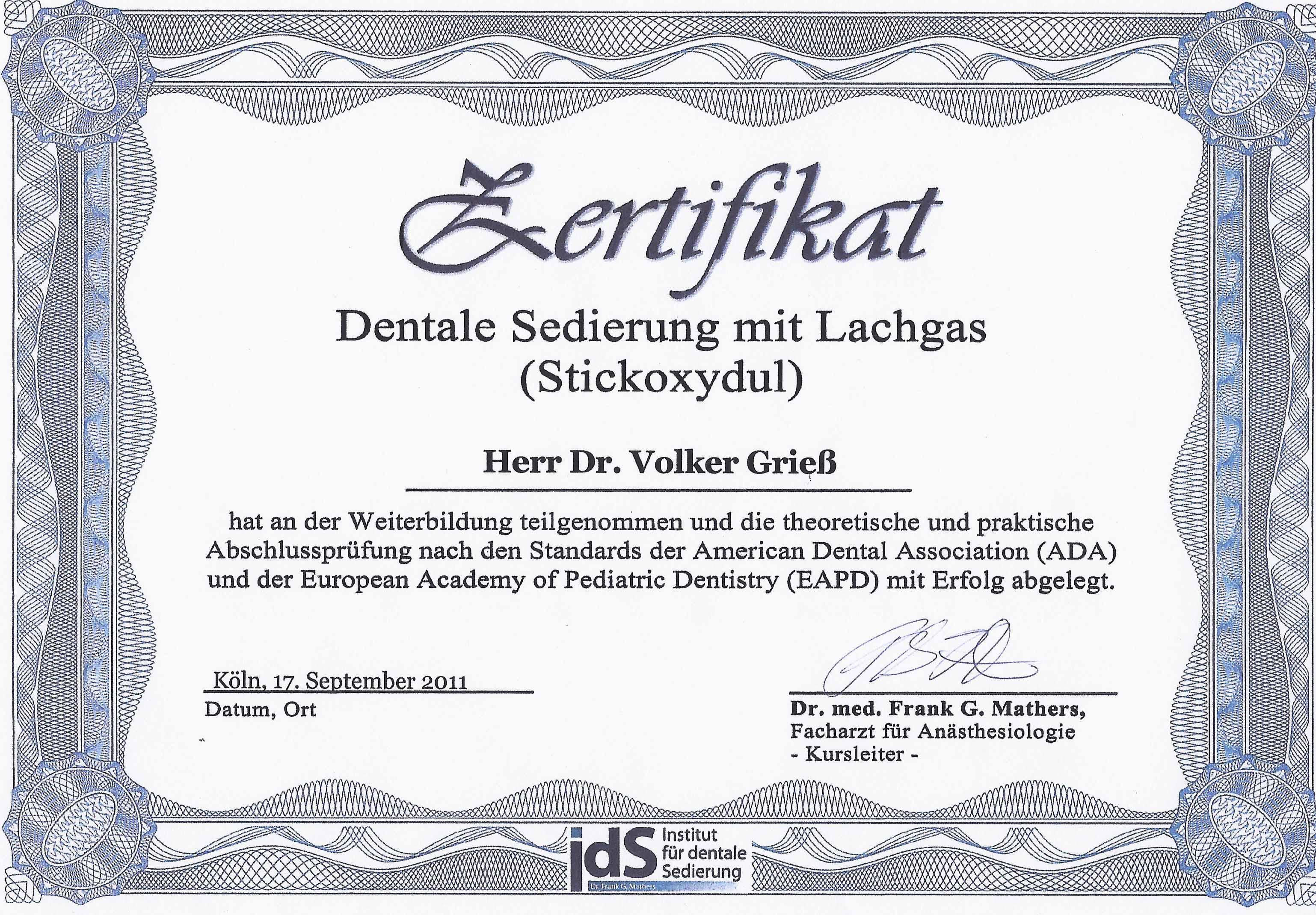 Dentale_Sedierung_Zertifikat
